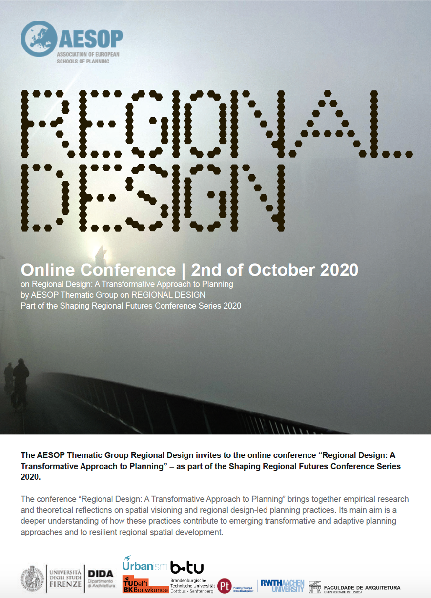 "Call for abstracts - ""Regional Design: A Transformative Approach to Planning"""